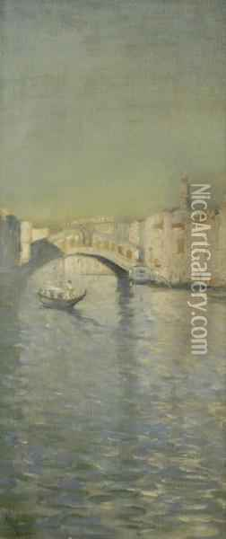 Venetian View Oil Painting - Frank Myers Boggs