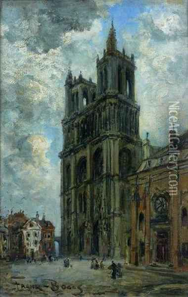 Cathedrale De Mantes Oil Painting - Frank Myers Boggs
