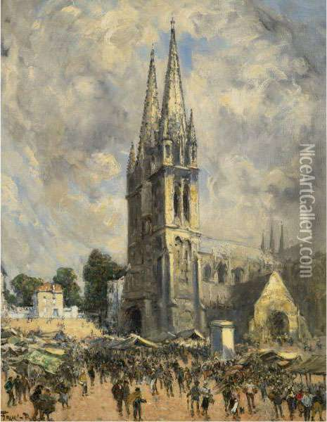 Eglise En Normandie Oil Painting - Frank Myers Boggs