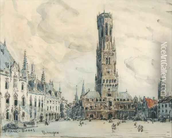 La Grand-place Oil Painting - Frank Myers Boggs