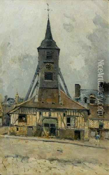 L'eglise Ste Catherine A Honfleur Oil Painting - Frank Myers Boggs