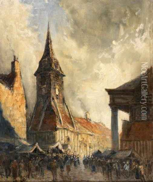Honfleur, L'eglise Ste Catherine Oil Painting - Frank Myers Boggs