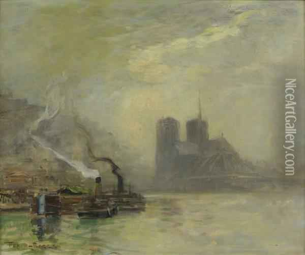 Notre-dame, Brume D'automne Oil Painting - Frank Myers Boggs