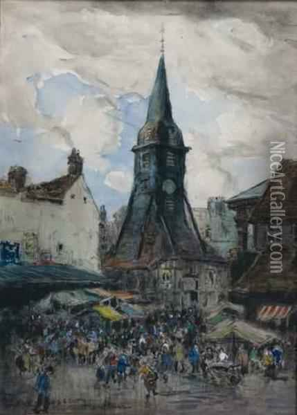 Honfleur Oil Painting - Frank Myers Boggs