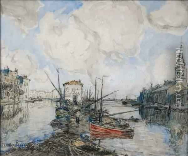 Les Martigues Oil Painting - Frank Myers Boggs
