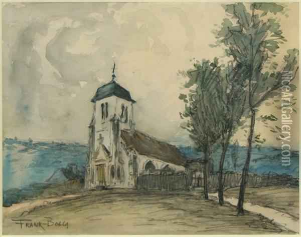 Chapel In The Hills Oil Painting - Frank Myers Boggs