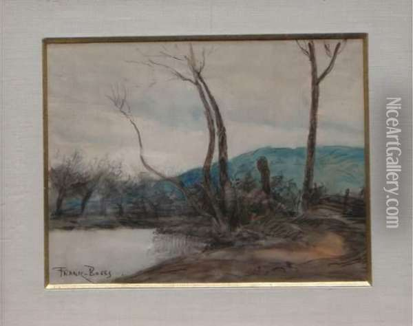 Ll Etang A Vicq Oil Painting - Frank Myers Boggs