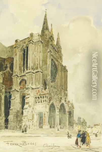 La Cathedrale De Chartres Oil Painting - Frank Myers Boggs