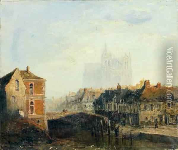 Amiens Oil Painting - Frank Myers Boggs