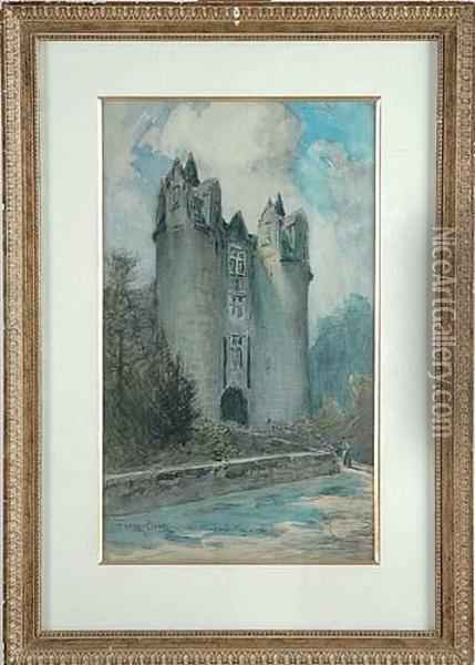 Chateau De Montreuil-bellay Oil Painting - Frank Myers Boggs