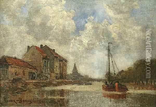 Canal Scene Oil Painting - Frank Myers Boggs
