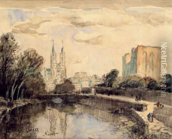 La Sevre A Niort, Circa 1905-1910 Oil Painting - Frank Myers Boggs