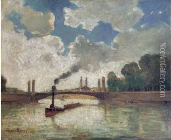 Ecole Americaine Oil Painting - Frank Myers Boggs