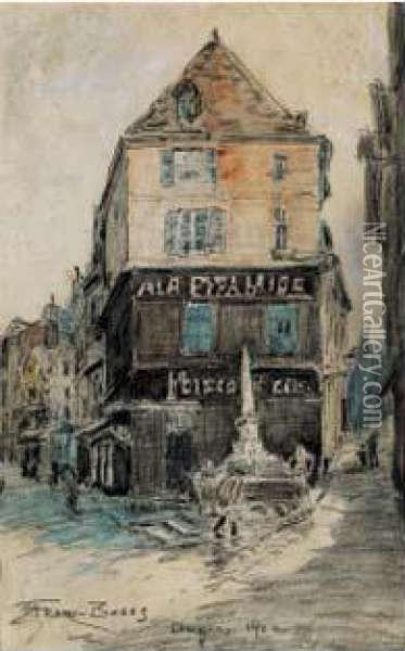 Rue A Angers Oil Painting - Frank Myers Boggs
