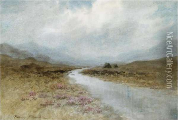 The Moorland Stream Oil Painting - William Percy French