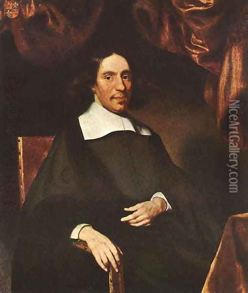 Portrait of Justus Criex 1666 Oil Painting - Nicolaes Maes