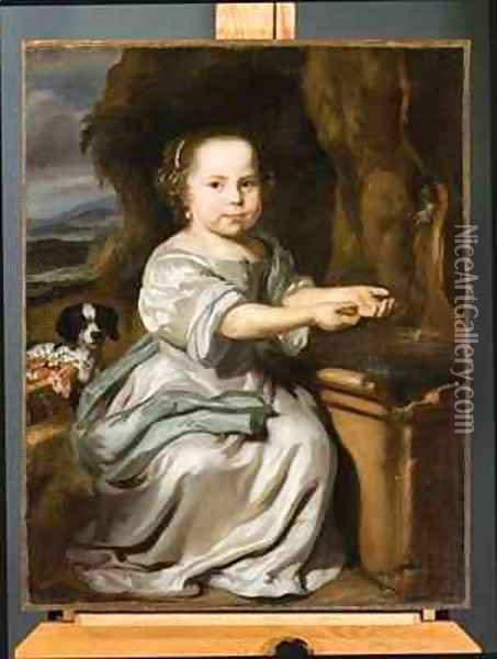 Portrait of a Girl 1664 Oil Painting - Nicolaes Maes
