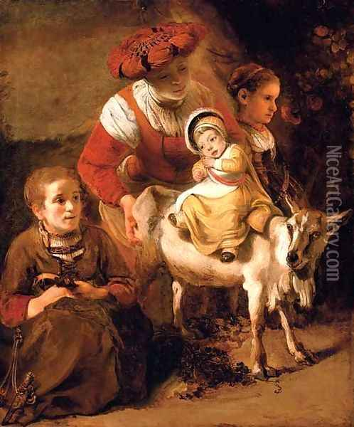 The Spanish gypsy Oil Painting - Nicolaes Maes