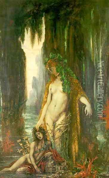 The Poet and the Siren Oil Painting - Gustave Moreau