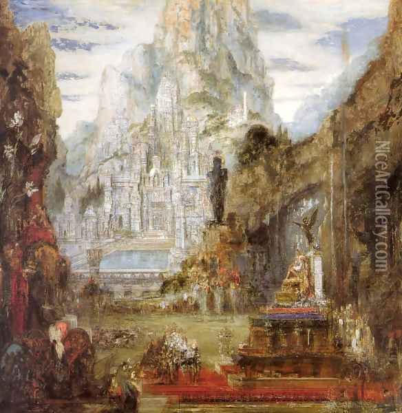 The Triumph of Alexander the Great Oil Painting - Gustave Moreau