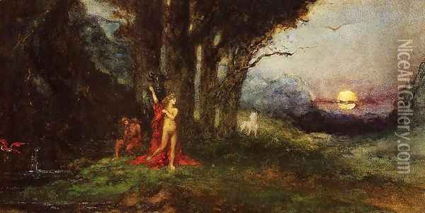 Pasiphae and the Bull Oil Painting - Gustave Moreau