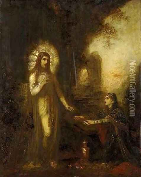 Christ and Mary Magdalene Oil Painting - Gustave Moreau