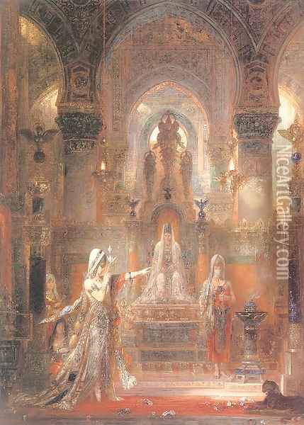 Salome Dancing before Herod 1874-76 Oil Painting - Gustave Moreau