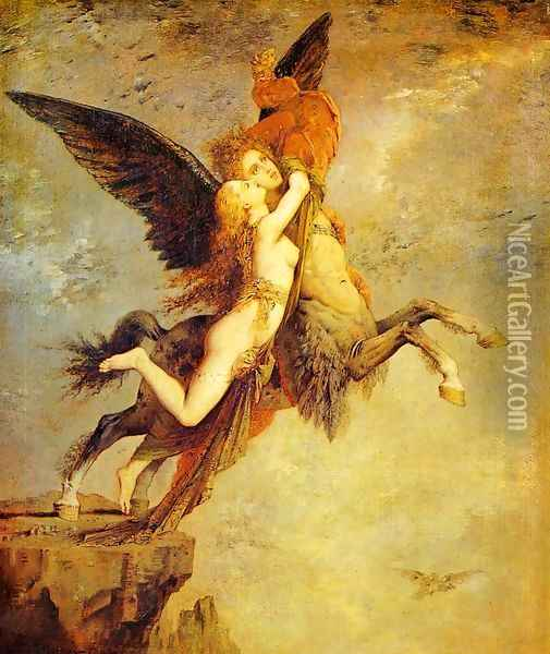 The Chimera I Oil Painting - Gustave Moreau