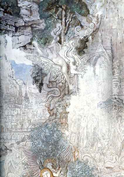 The Chimeras - detail Oil Painting - Gustave Moreau