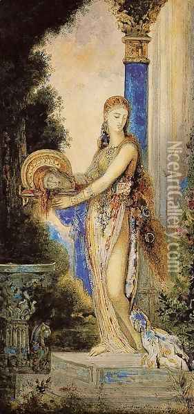 Salome with Column Oil Painting - Gustave Moreau