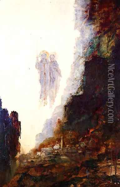 The Angels of Sodom Oil Painting - Gustave Moreau