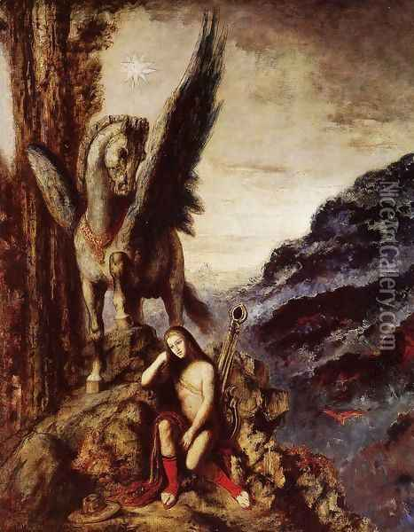 The Travelling Poet Oil Painting - Gustave Moreau
