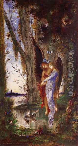 Evening and Sorrow 1882-84 Oil Painting - Gustave Moreau