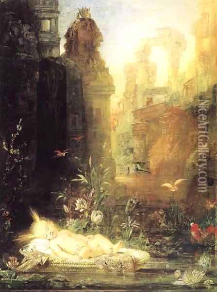 Moses by the Nile Oil Painting - Gustave Moreau