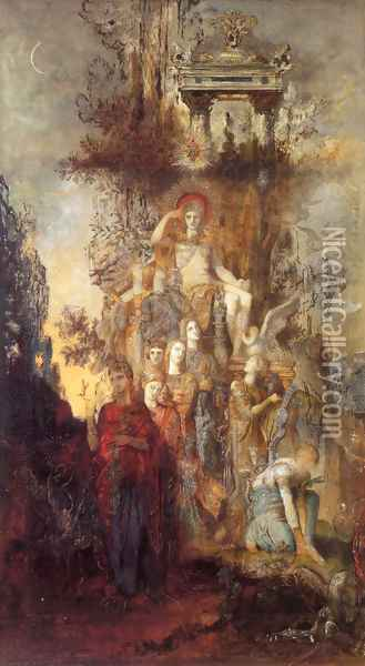 The Muses Leaving Their Father Apollo to go and Enlighten the World Oil Painting - Gustave Moreau