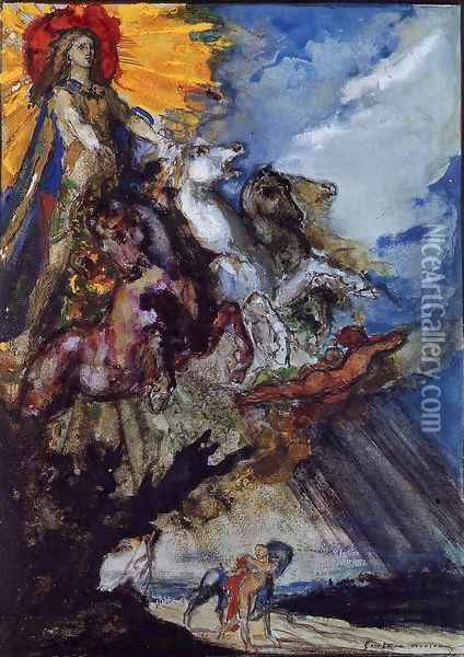 Phoebus and Boreas Oil Painting - Gustave Moreau