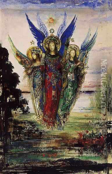 Evening Voices Oil Painting - Gustave Moreau