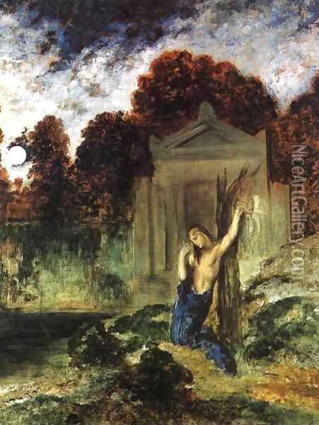Orpheus on the Tomb of Euridice Oil Painting - Gustave Moreau