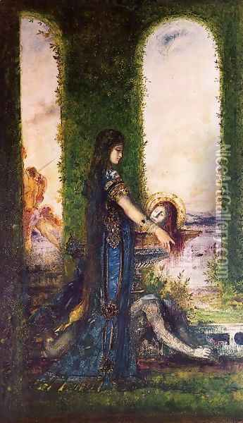 Salome in the Garden Oil Painting - Gustave Moreau