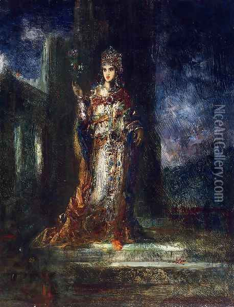 The Fiancee of the Night Oil Painting - Gustave Moreau