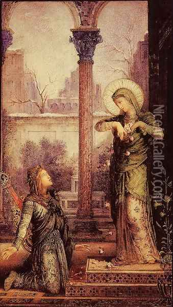 The Poet and the Saint Oil Painting - Gustave Moreau