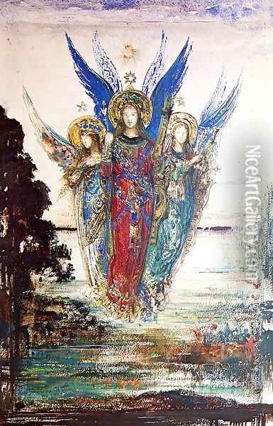 Voices of Evening Oil Painting - Gustave Moreau