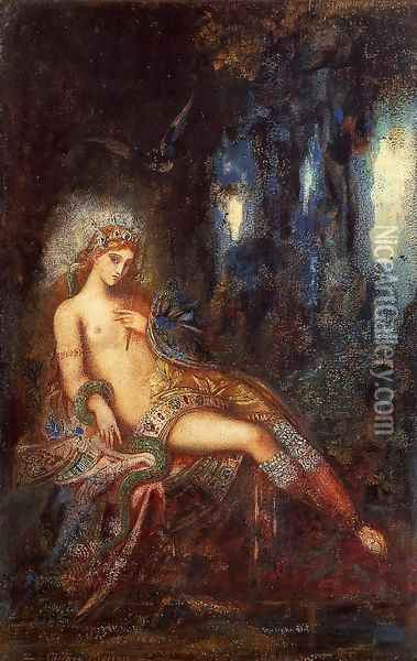 Goddess on the Rocks Oil Painting - Gustave Moreau