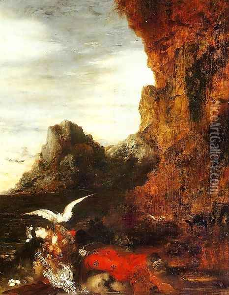The Death of Sappho II Oil Painting - Gustave Moreau