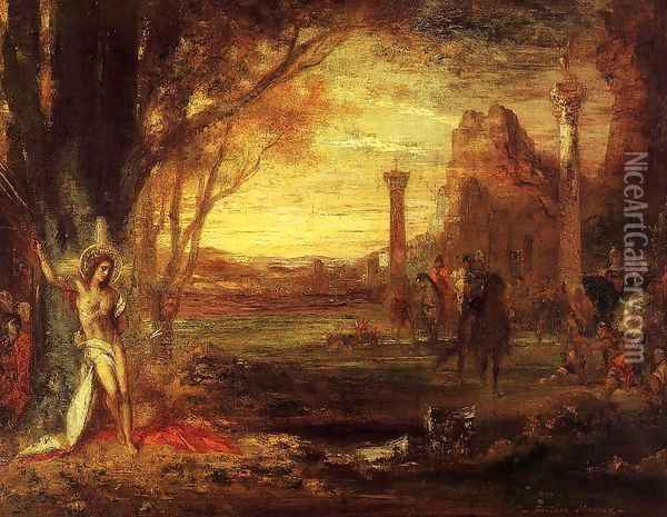 Saint Sebastian and His Executioners Oil Painting - Gustave Moreau
