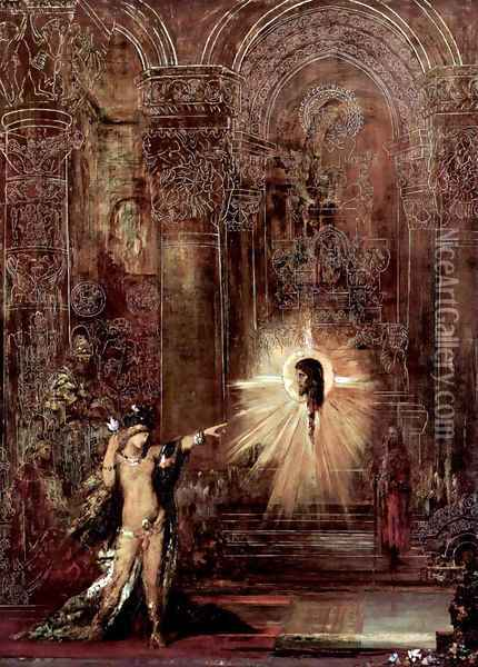 The appearance (Salomé and the head of John the Baptist) Oil Painting - Gustave Moreau