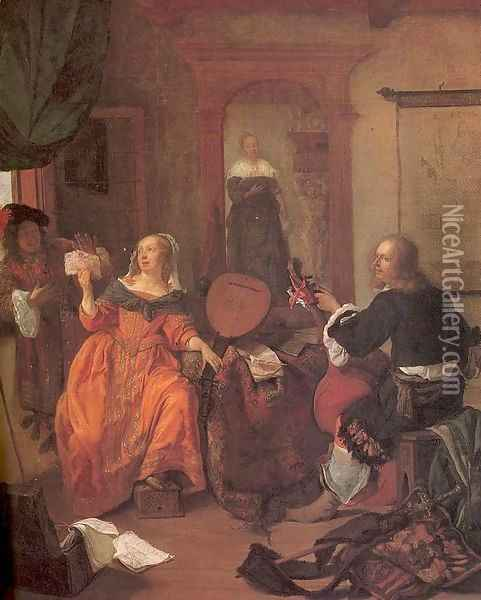 The Music Party 1659 Oil Painting - Gabriel Metsu