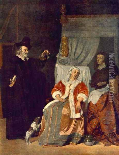 Visit of the Physician 1660-67 Oil Painting - Gabriel Metsu