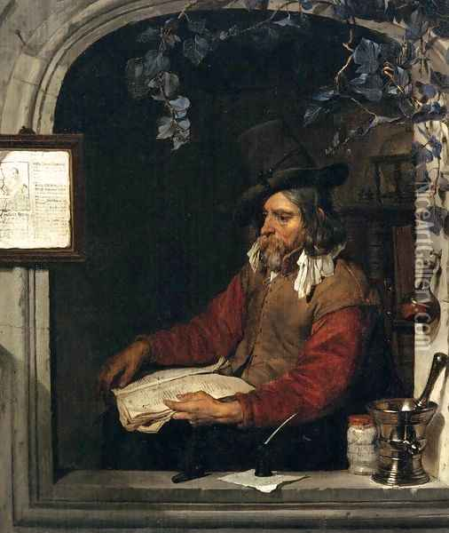 The Apothecary (The Chemist) Oil Painting - Gabriel Metsu