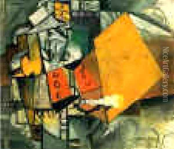A Soldier Of The Guards Oil Painting - Kazimir Severinovich Malevich